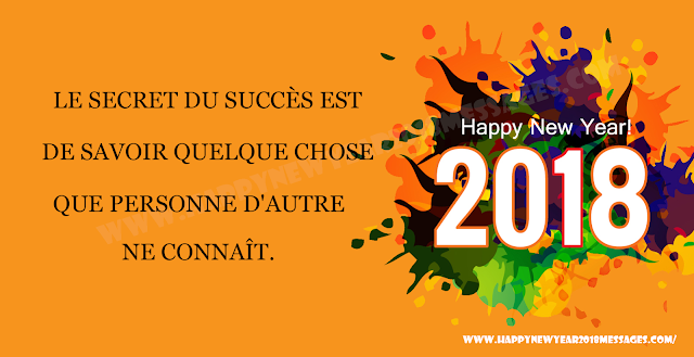 Happy New Year 2018 wishes messages in French Bonne année 2018 souhaits