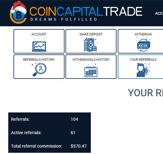 Оборот структуры CoinCapitalTrade