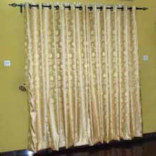 Gold Eyelet Curtains in Port Harcourt, Nigeria