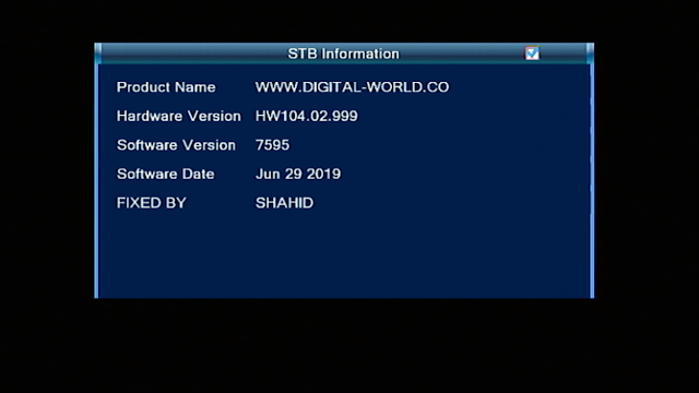 STAR TREK HD RECEIVER ALI 3510D HW104.02.999 V 7595 NEW SOFTWARE UPDATE
