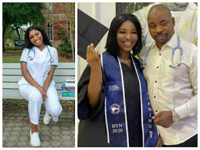 Oluomo's daughter, Nofisat becomes a registered nurse in US state of Georgia