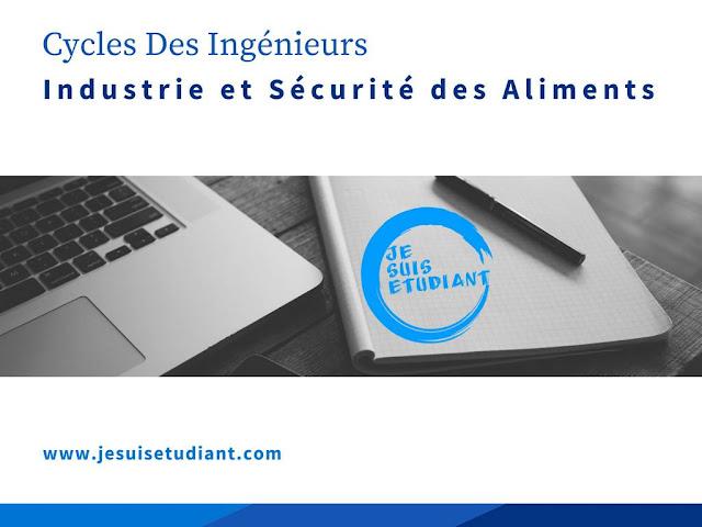 Cycles Des Ingénieurs   Industrie et Sécurité des Aliments ISA - Condition d'accès