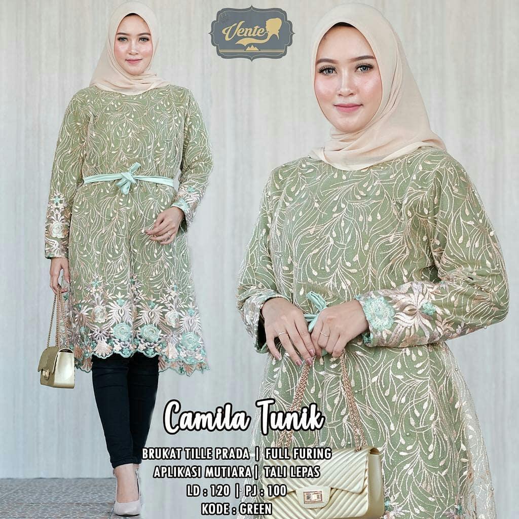 10+ Model Baju Muslim Wanita Gemuk Pendek 10