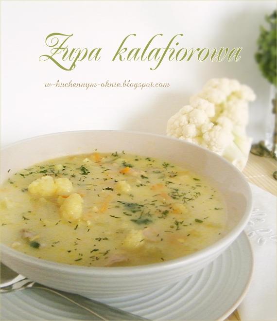 smaczna zupa kalafiorowa z kalarepką