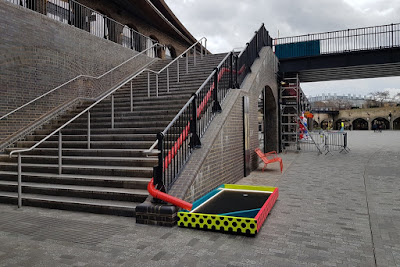 CLUB GOLF pop-up crazy colf course at Coal Drops Yard in King's Cross, London