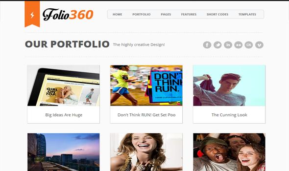 Folio360 Blogger Template
