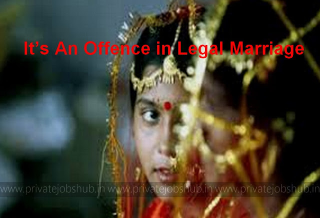 It's An Offence in Legal Marriage