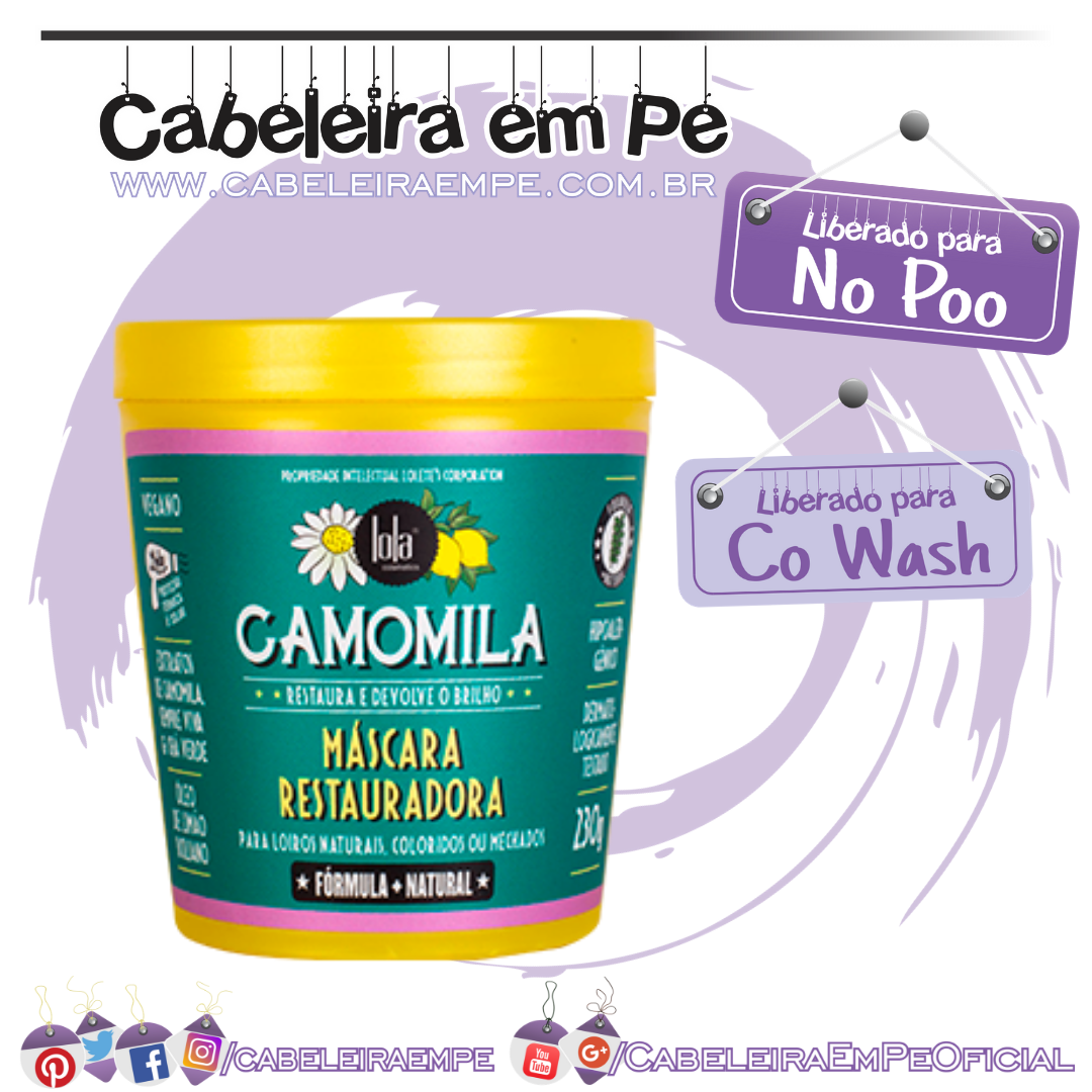 Máscara Camomila - Lola Cosmetics (No Poo e Co Wash)