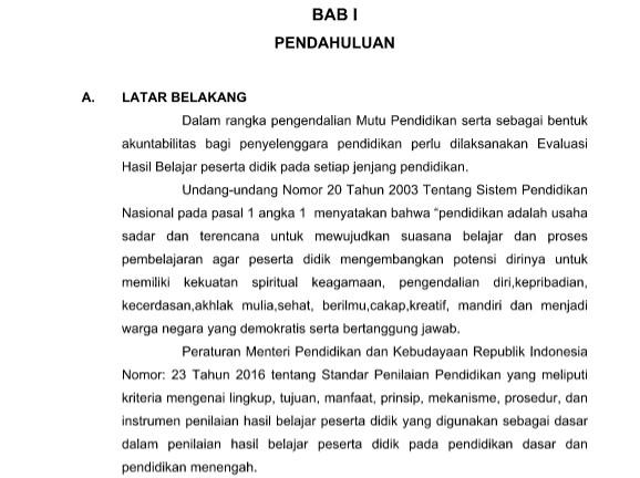 Download Pedoman dan Juknis PAS SD/MI Kurikulum 2013