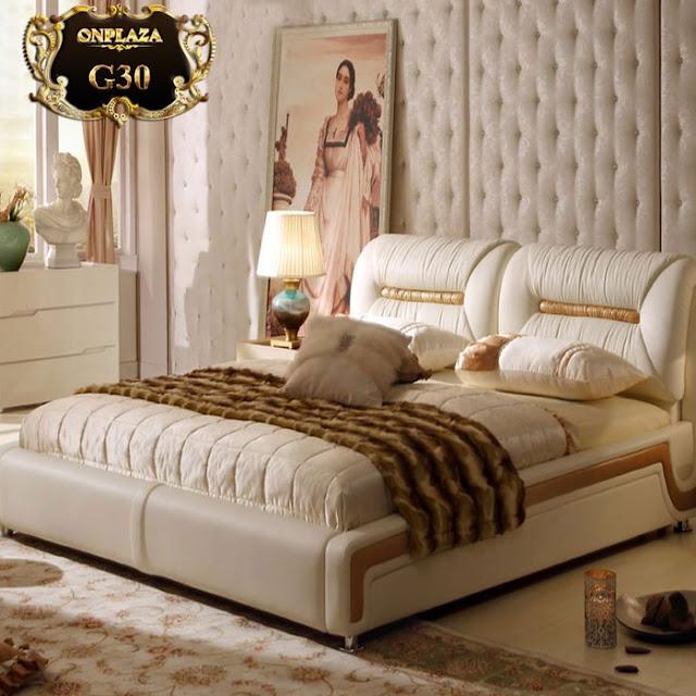 Sản phẩm giường bọc da phong cách hiện đại cao cấp
