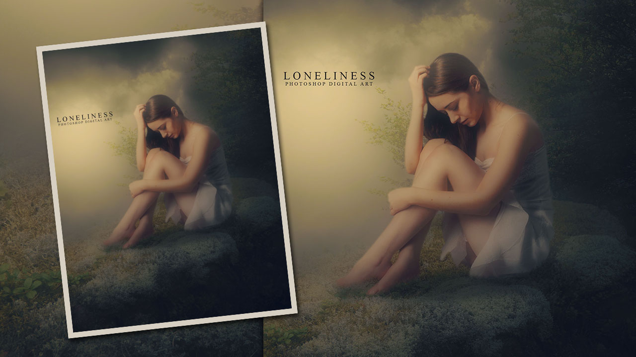 Loneliness - Fantasy Photo Manipulation Photoshop Tutorial