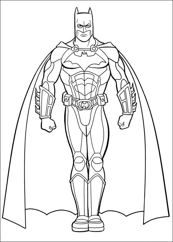 Cartoons Coloring Pages Batman Coloring Pages