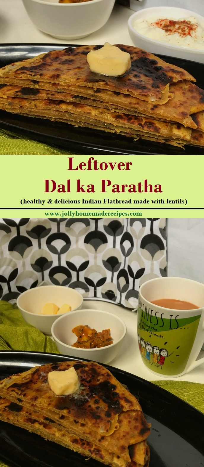 leftover dal ka paratha recipe