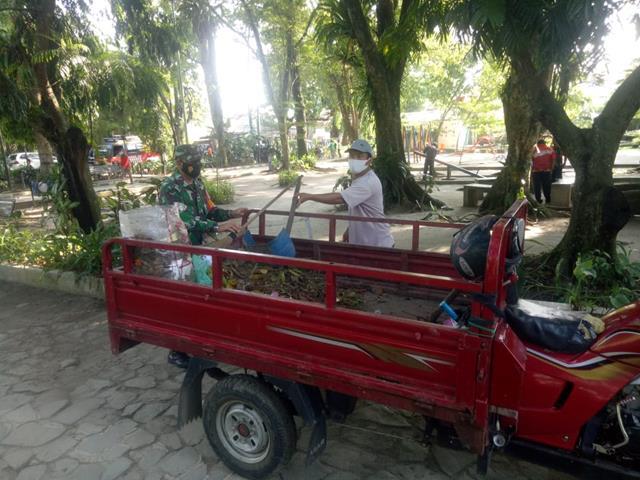 Dalam Rangka Gotong Royong, Personel Jajaran Kodim 0207/Simalungun Laksankan Bersama DInas Terkait