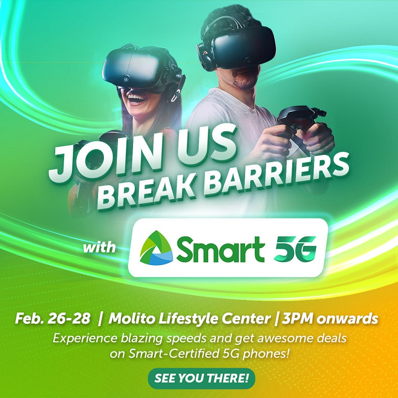 Smart to open 5G Experiential Zone in Molito, Alabang on Feb. 26 to 28