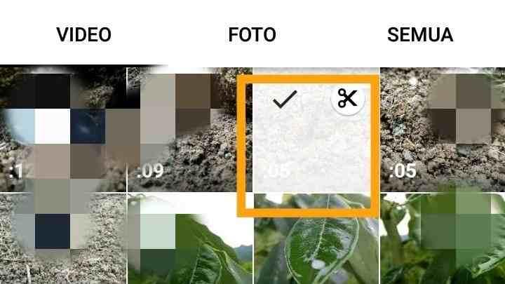 Cara menambahkan gambar ke Video di InShot