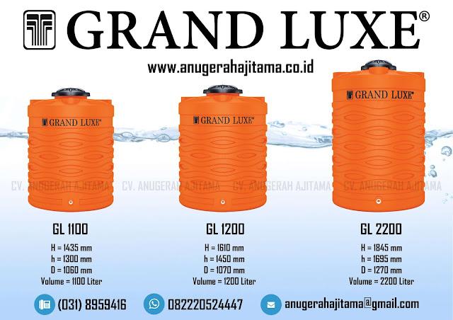 Ukuran Tangki Air Grand Luxe