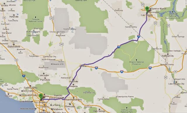 Viagem de carro de Las Vegas à Los Angeles