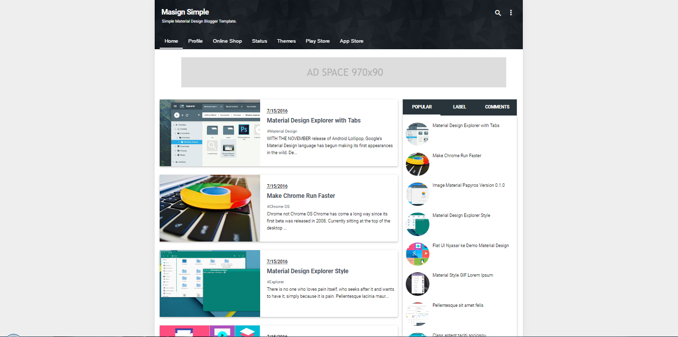 Masign Simple - A Responsive Blogger Template Free Download