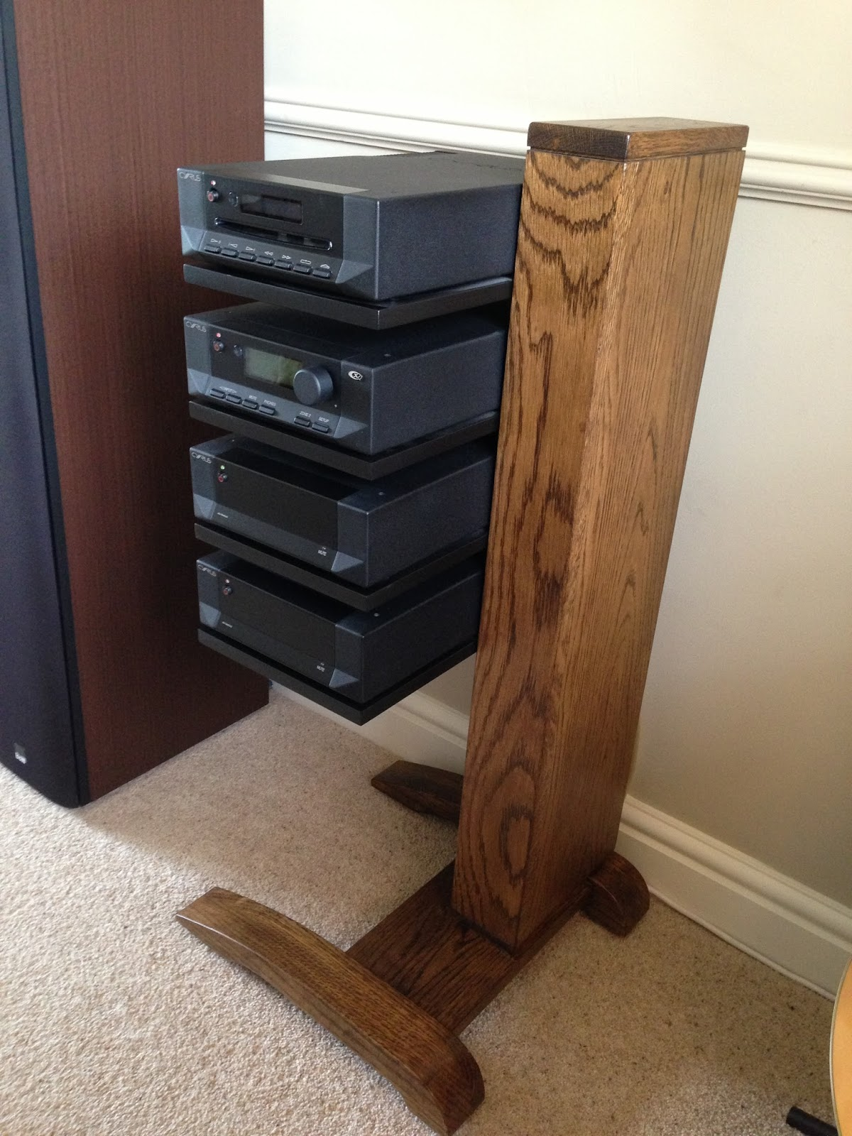 Hifi Rack Oak An Alternative To Cyrus Audio 39s Hark Rack