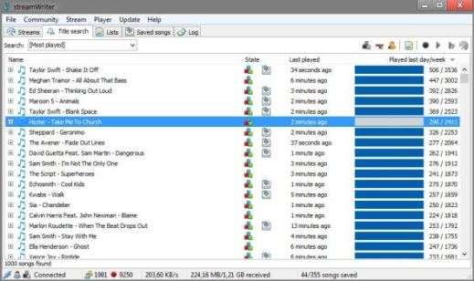 Con SreamWriter puoi scaricare la musica direttamente dalle Web Radio.