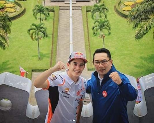Marc Marquez dan Ridwan Kamil 2019