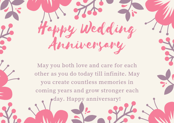 Anniversary messages for couple