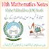 10th Class Mathematics KPK Board PDF Notes