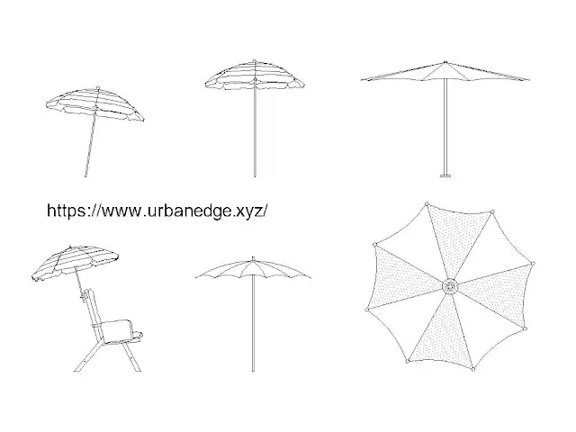 Beach umbrella free cad blocks download - 5+ dwg models