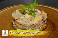 viaindiankitchen - Chicken Mushroom Rice