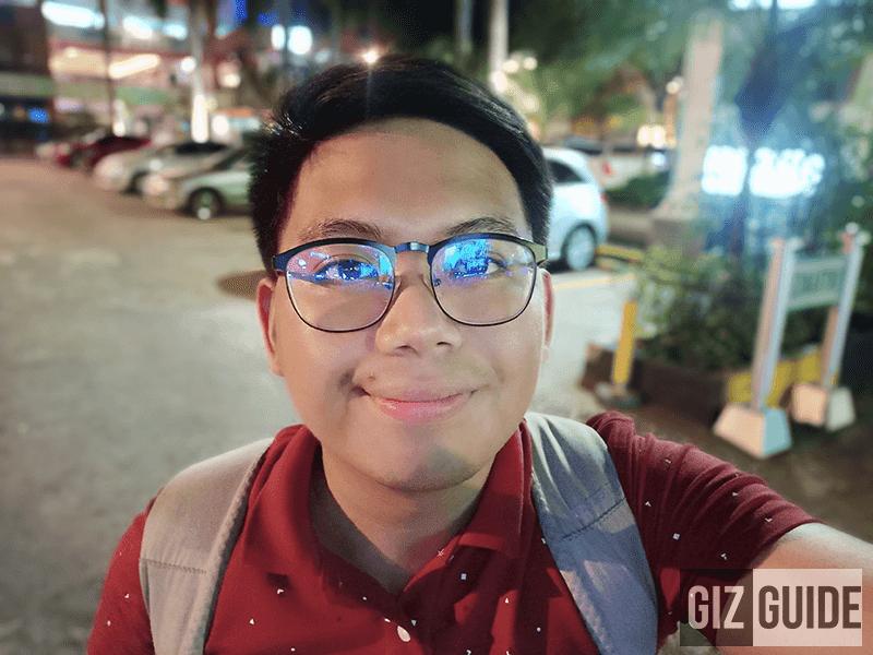 Lowlight portriat selfie