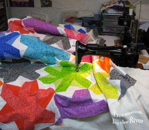 quilting on vintage singer sewing machine