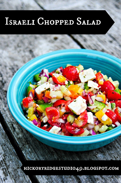 hickory ridge studio foodie Fridays Israeli Chopped Salad healthy eating