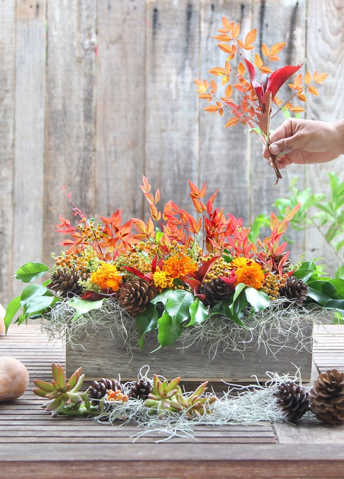 Beautiful DIY fall floral arrangement