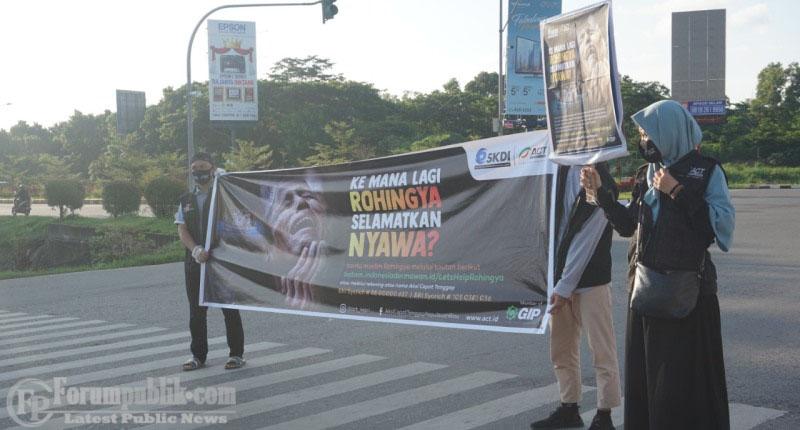 ACT Kepri Lakukan Aksi Solidaritas Bantu Etnis Rohingya di Aceh Utara