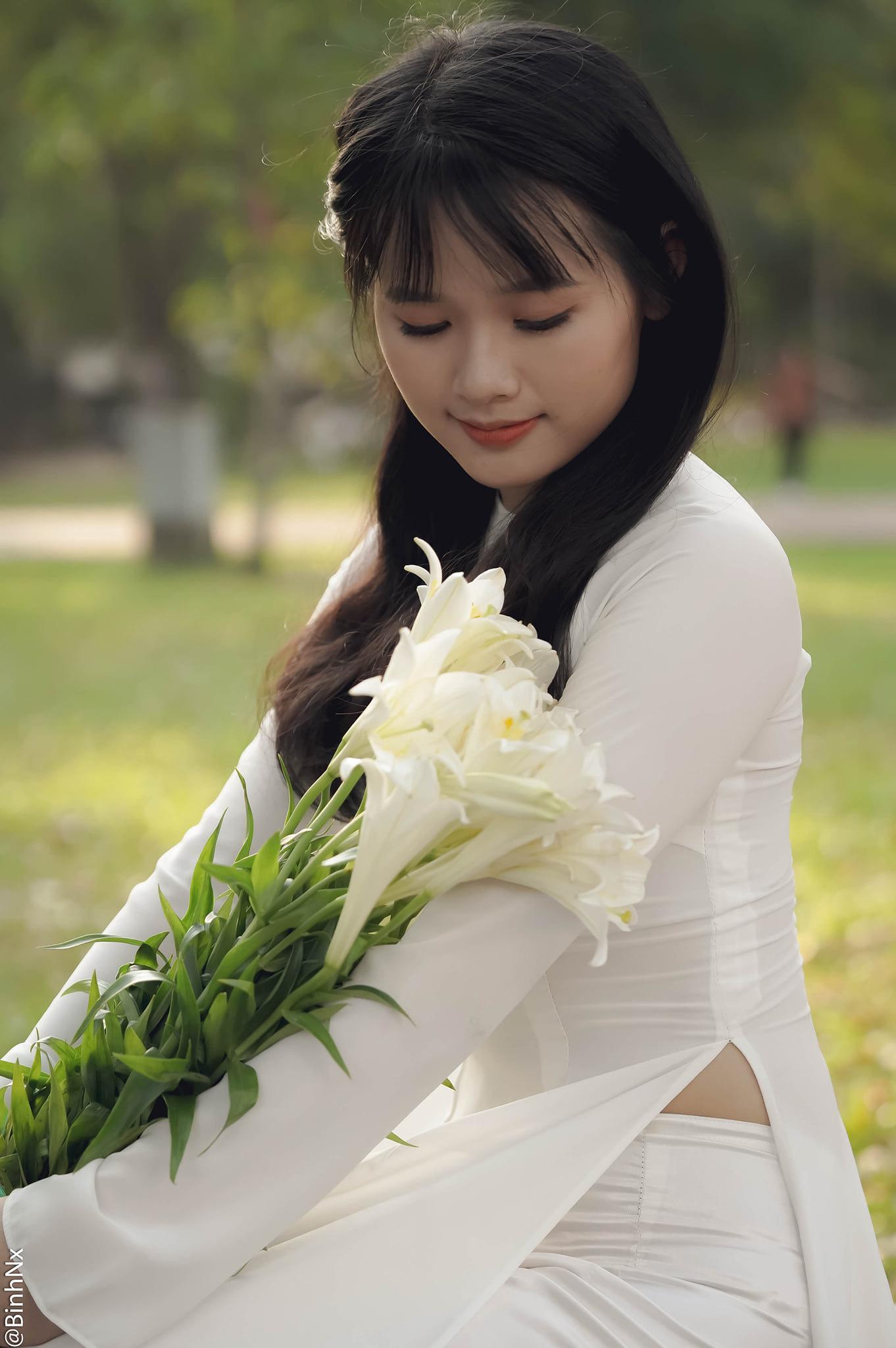 Tuyển tập girl xinh gái đẹp Việt Nam mặc áo dài đẹp mê hồn #57 - 15