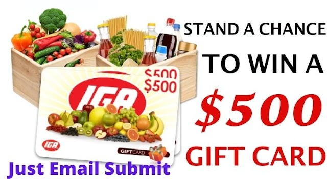 Get a Free 500$ Super Grocery Gift