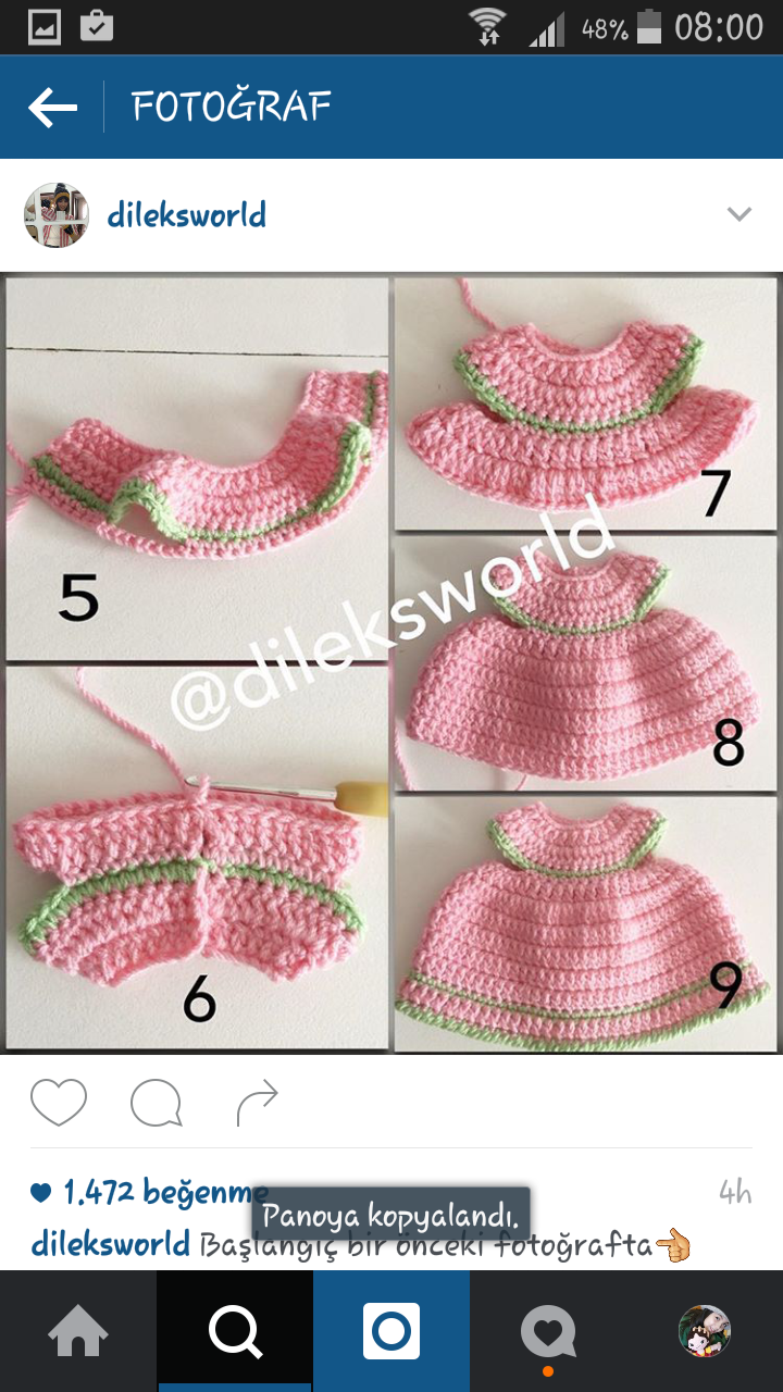 Hello Kitty Dress Idea Only #kittycrochet | Ropa para bebé de ... | 1280x720