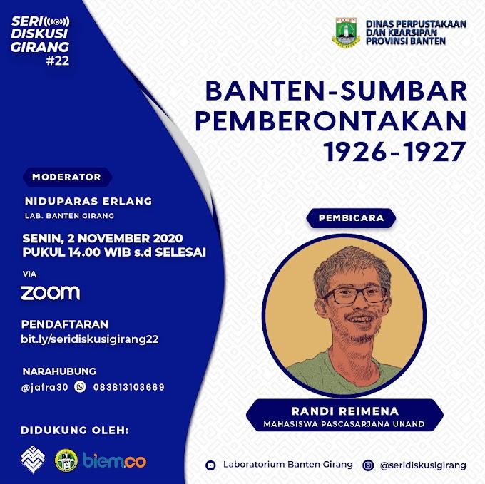 Seri Diskusi Girang #22: Banten-Sumbar Pemberontakan 1926-1927