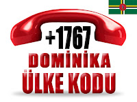 +1 767 Dominika ülke telefon kodu