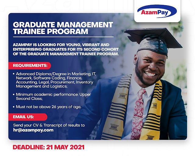 AzamPay launched the Graduate Management Trainee program