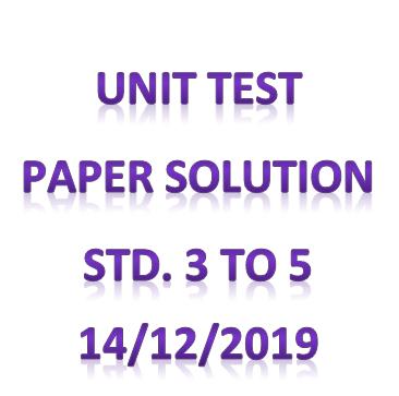 Unit test paper solution 14/12/2019