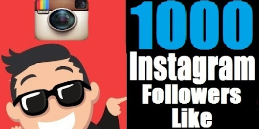 Instant 1000 Instagram Followers/Photo Likes For $2 ~ Buy Cheap Followers