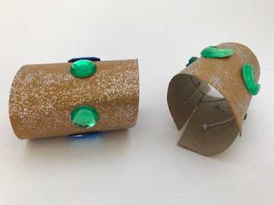 Homemade Egyptian wrist cuffs
