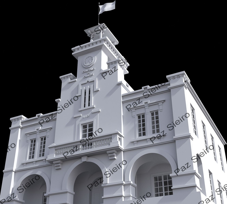 Works 3d edificio concello de canedo 1920 ourense - Arquitectos ourense ...