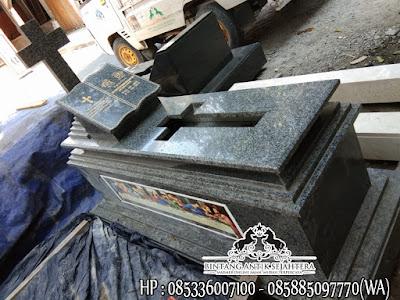 Makam Marmer Granit Model Kristen, Gambar Makam Granit Kristen, Makam Kristen Granit