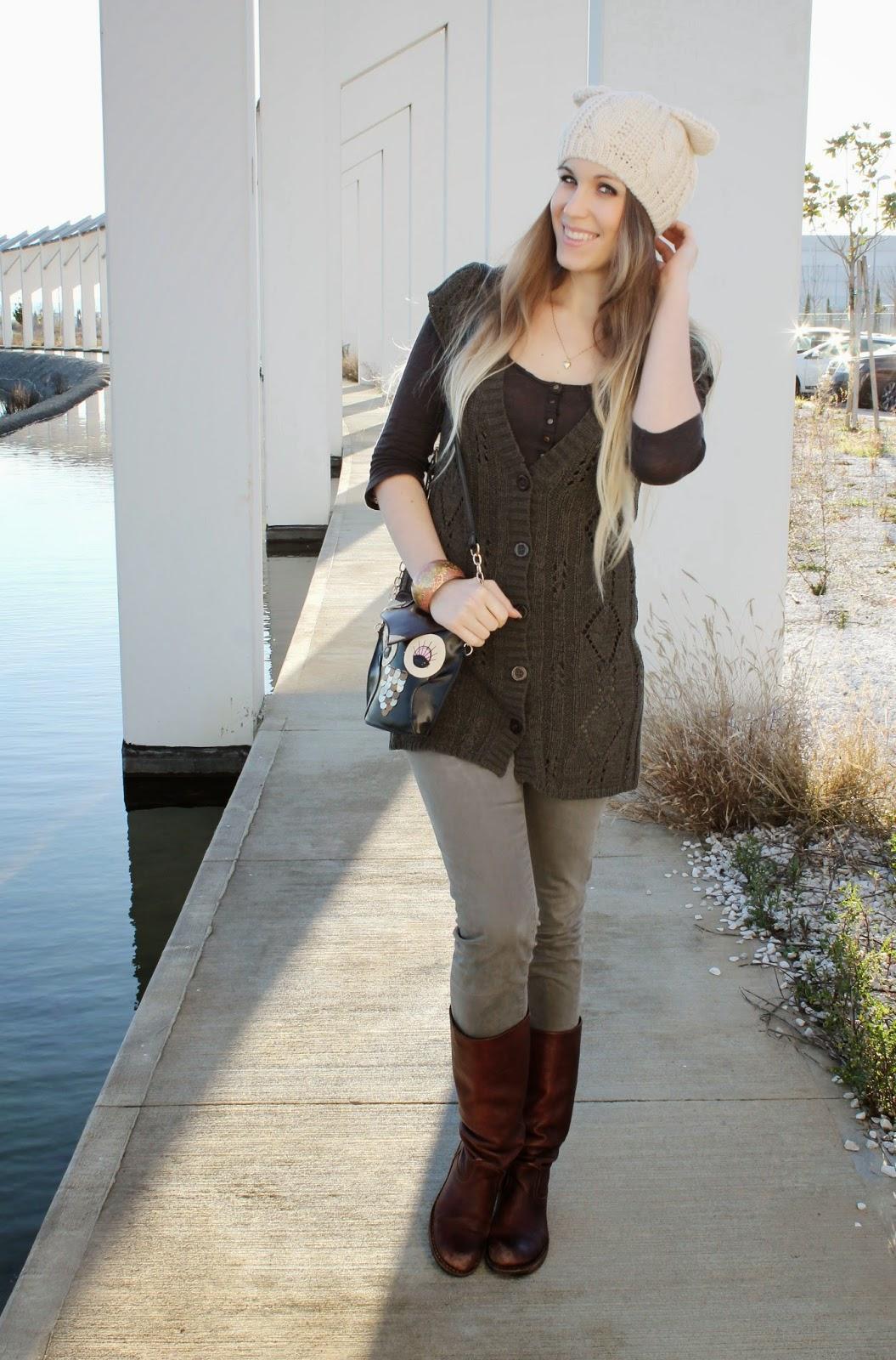cat ear beanie italian fashion blogger