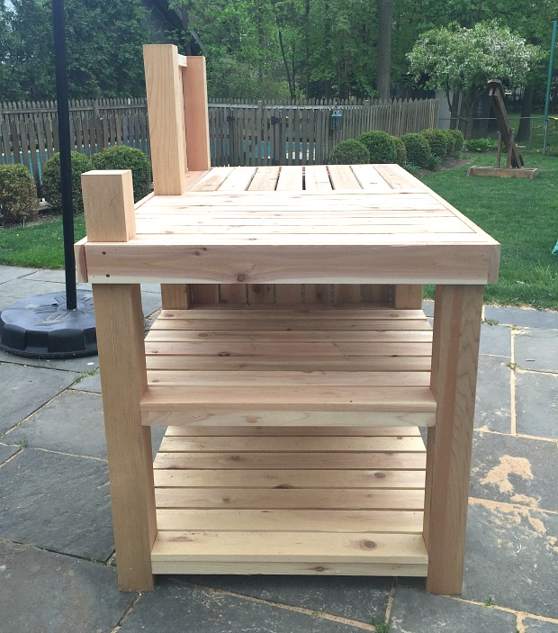 diy potting bench outdoor bar