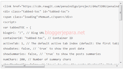 cara membuat scroll bar di blog