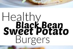 HEALTHY BLACK BEAN SWEET POTATO BURGERS